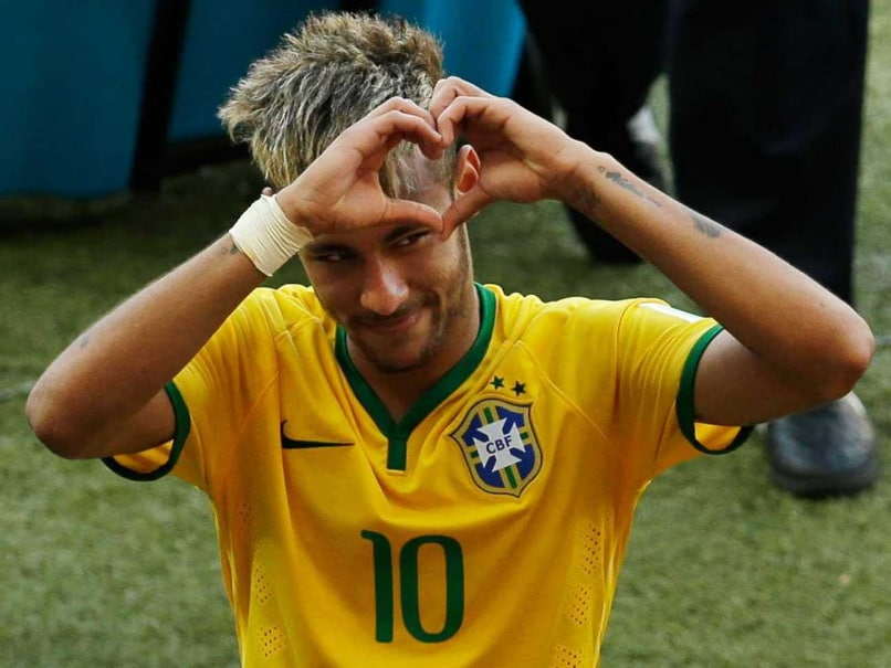Neymar celebrates after Brazil's win over Chile to reach quarters of FIFA World Cup