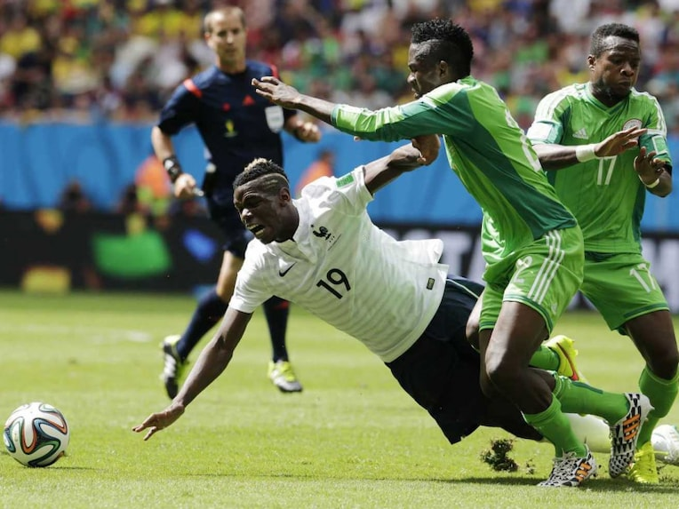 Paul Pogba in action against Nigeria in FIFA World Cup