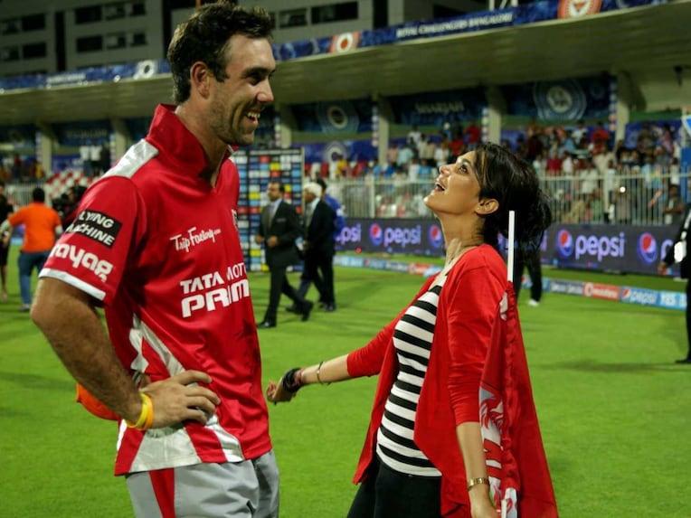 preity Zinta Glenn Maxwell IPL