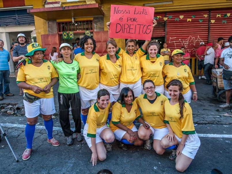 Naked football: Brazil prostitutes show ball skills to