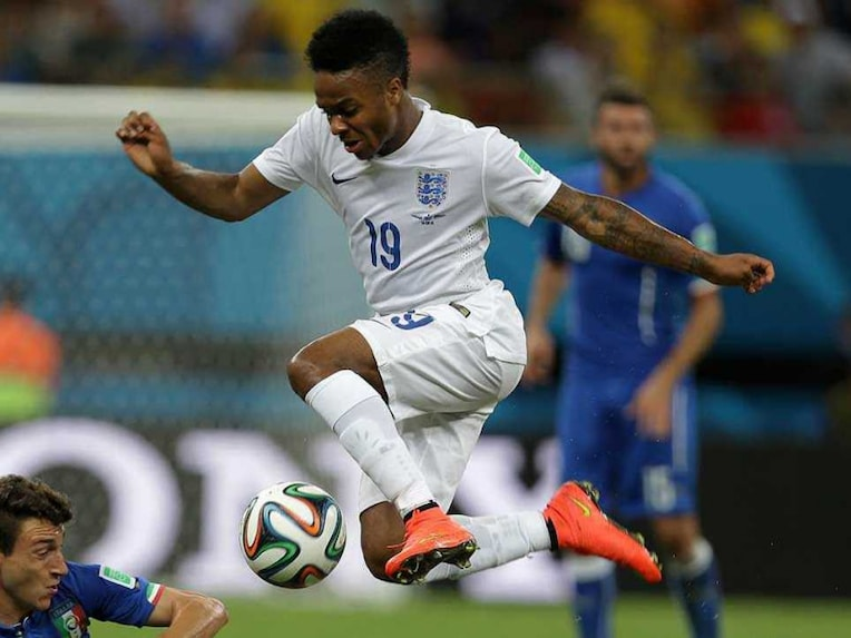 File photo of Raheem Sterling during the 2014 World Cup.