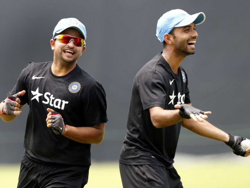 Photo of Ajinkya Rahane & his friend, cricket player  Suresh Raina