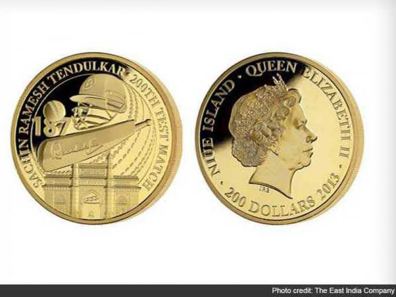 The East India Company issued a rare coin in honour of Indian batting maestro Sachin Tendulkar