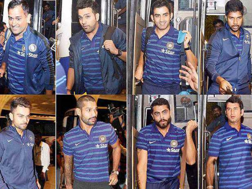 Indian players in T-shirts