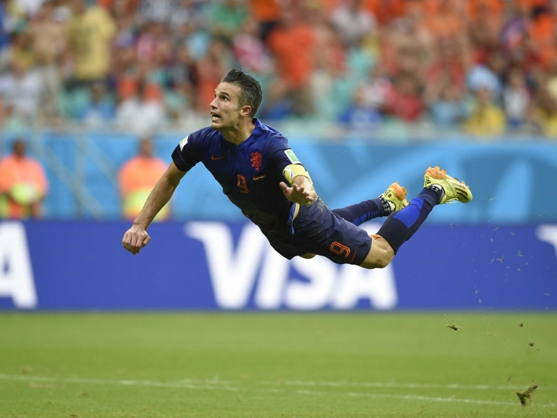 van Persie flying Dutch