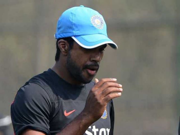 Varun Aaron during Indian team practice
