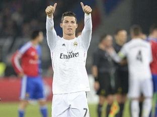Cristiano Ronaldo Nets in Real Madrid's Record-Equalling Win in Champions League