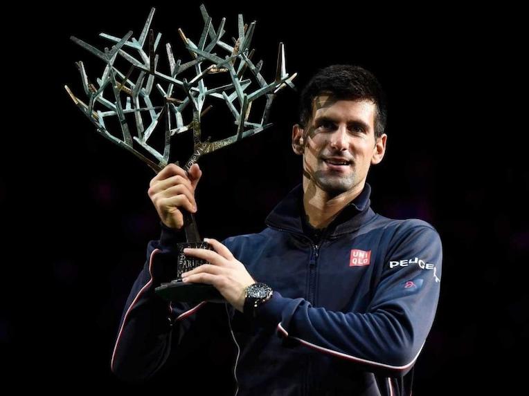 Djokovic Paris Masters trophy