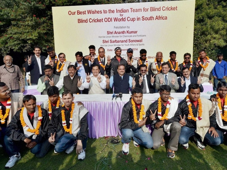Indian Cricket Team Leaves For South Africa: Indian Team Leaves For Blind Cricket World Cup