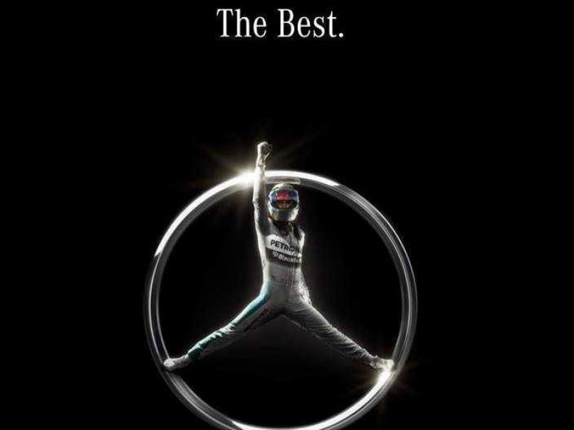 39 king 39 lewis hamilton is new tri star in mercedes 39 iconic for Tri star mercedes benz