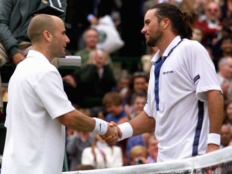 Patrick Rafter and Andre Agassi