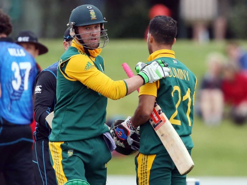 1st ODI: AB de Villiers, JP Duminy Guide South Africa to 6-Wicket Win vs New Zealand