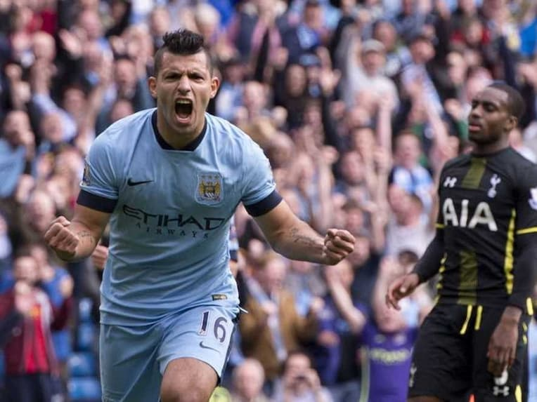 Aguero Man City Spurs Four Goals
