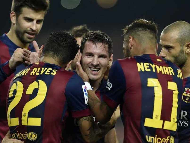 Barcelona Messi With Teammates