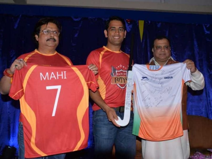 MS Dhoni (C) is the joint owner of the Hockey India League team Ranchi Rays.