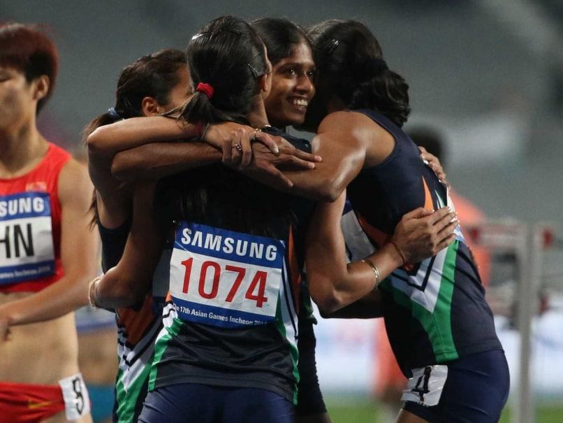 Indian Women relay team Asian