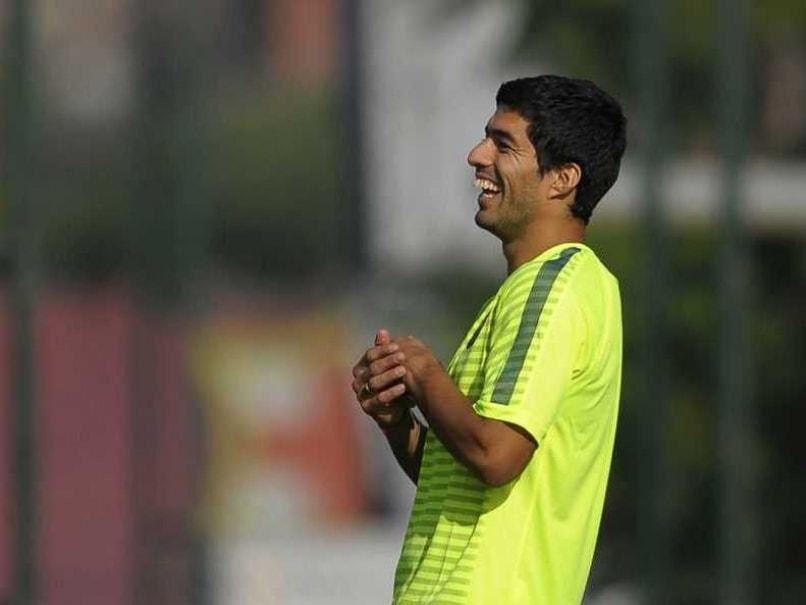 Luis Suarez Training Barcelona