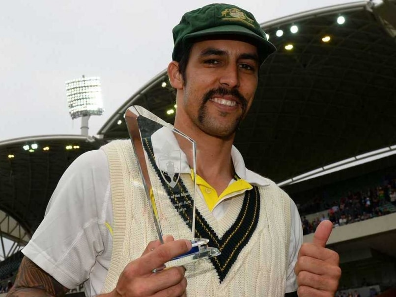 Mitchell Johnson Moustache Prominent AFP