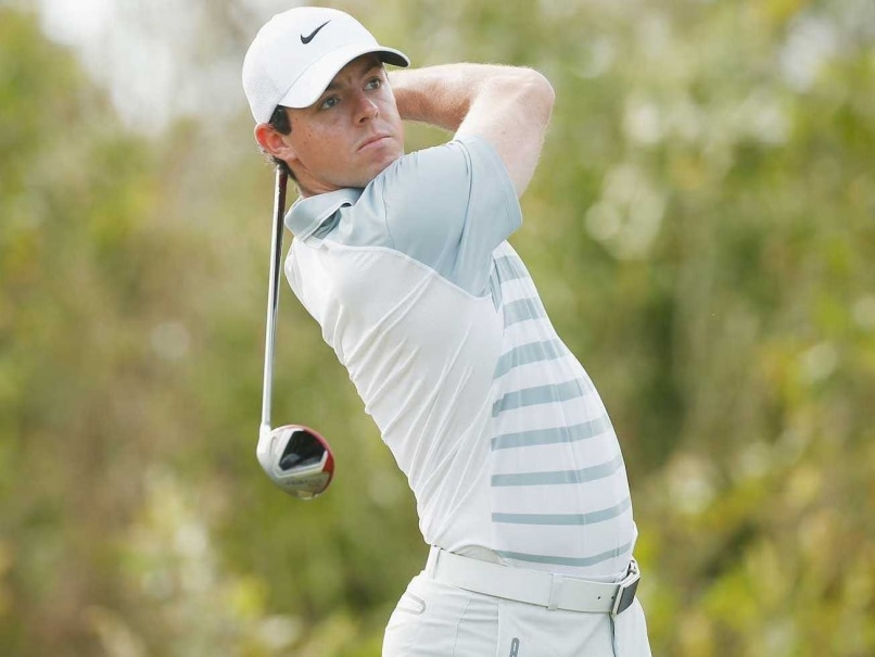 Rory McIlroy swings