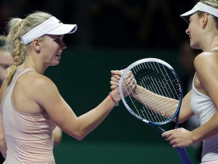 Wozniacki Sharapova WTA Finals