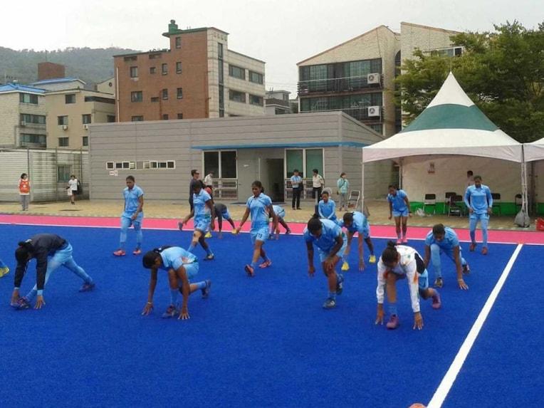 hockey training asian games