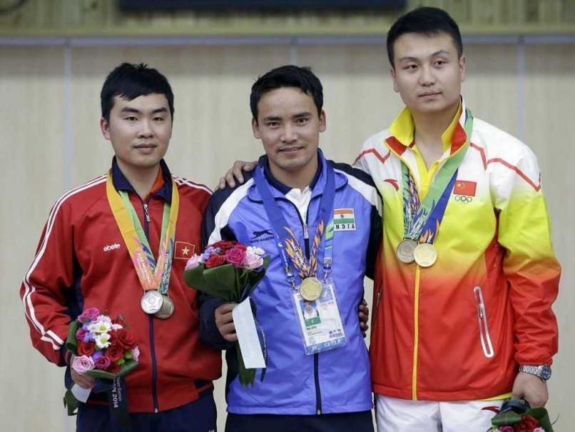Jitu Rai Gold Medal at 2014 Asiad