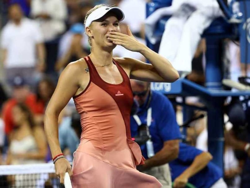 Wozniacki Kiss US Open