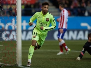 Neymar Brace Helps FC Barcelona Edge Nine-Man Atletico Madrid to Reach King's Cup Semis