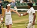 Wimbledon: Paes, Hingis Have Incredible Volley Exchange in Training