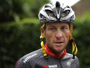 Disgraced Cyclist Lance Armstrong Back on Tour de France Route
