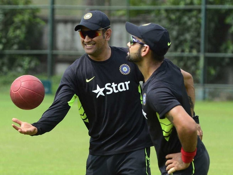 Virat Kohli Keeps Wickets to Give MS Dhoni a One-Over ...  Virat Kohli Kee...