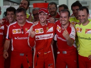 Sebastian Vettel Pays Tribute to 'Hero' Michael Schumacher After Winn