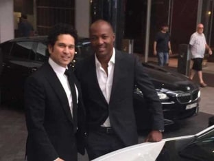 Sachin Tendulkar, Brian Lara Catch up in Australia