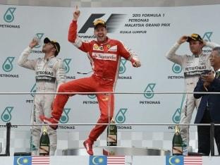 Malaysian Grand Prix: Sebastian Vettel Wins his First Race for Ferrari