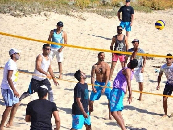 Beach Volleyball and a Visit to Vineyard, India in High Spirits Before Windies Tie