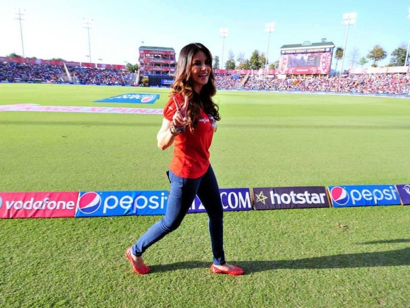 Sunny Leone is seen at the Punjab Cricket Association Stadium before ...