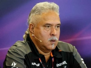 British GP: Force India Co-Owner Vijay Mallya Attends Practice Session