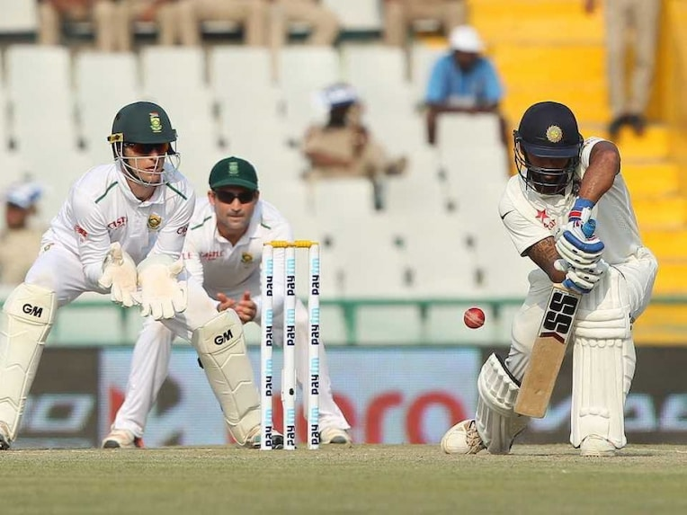 A shot from the ongoing India vs South Africa Test Match. Image Courtesy: ndtv.com