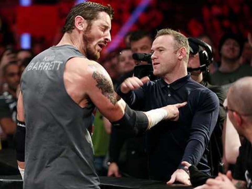 Wayne Rooney In Wwe Wayne Rooney Slaps WWE Wrestler Wade Barrett Football News
