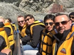 Actor Sidharth Malhotra's Day Out With Fleming, Simon Doull, Styris