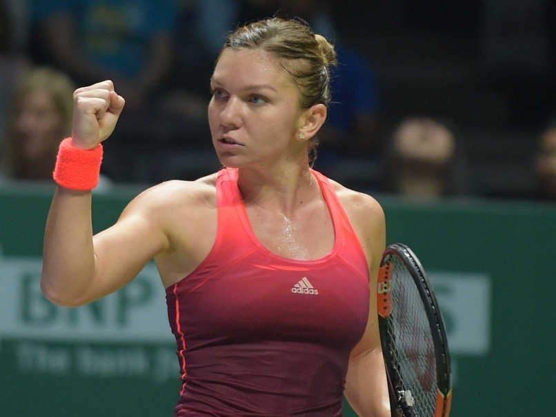 Simona halep races to victory maria sharapova wins marathon in wta