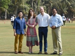 Sachin Tendulkar Plays Cricket With Britain's Prince William and Kate