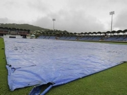 India vs Windies: Persistent Rain Washes Out 3rd Day's Play At St Lucia