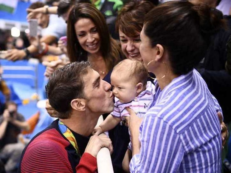 Rio 2016: Newly Retired Michael Phelps is on Boomer Time With Son