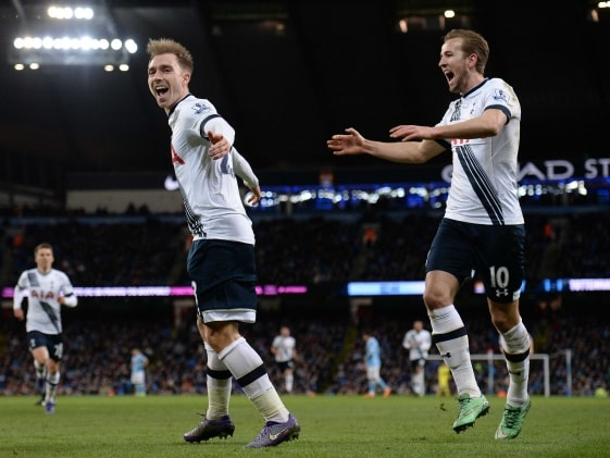 Birthday Boy Christian Eriksen, Harry Kane Floor Manchester City F.C.