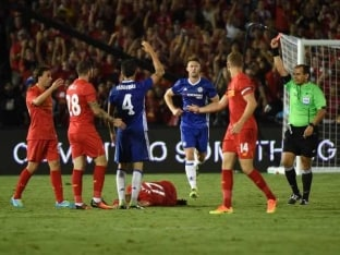 Cesc Fabregas Sees Red as Chelsea Beat Liverpool in International Champions Cup