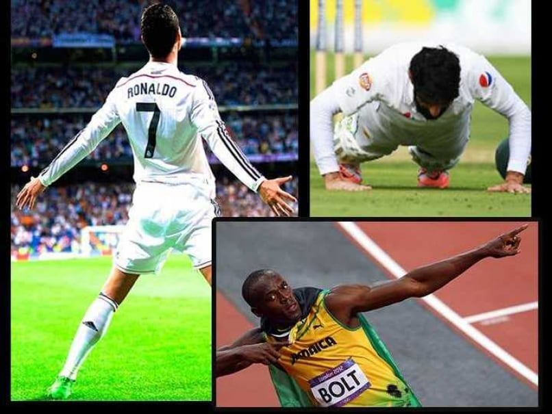 What's Your Favourite Celebration: Cristiano Ronaldo, Usain Bolt or Misbah?
