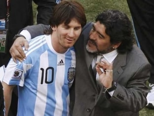 Lionel Messi Fails to Match Diego Maradona's Success in Argentina Shirt