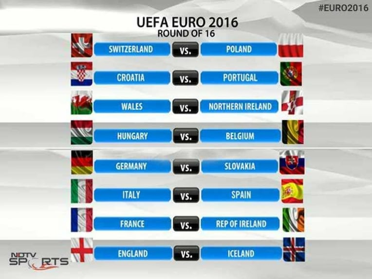 euro 2016 round of 16 schedule esp vs ita cro vs por in. Black Bedroom Furniture Sets. Home Design Ideas