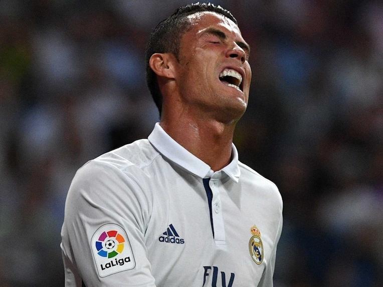 Cristiano Ronaldo angry